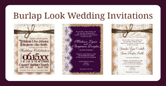 Burlap and Lace Wedding Invitations - Rustic Country ...