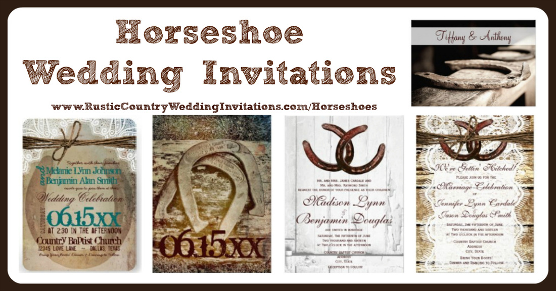 horseshoe wedding invitations - rustic country wedding invitations, Wedding invitations