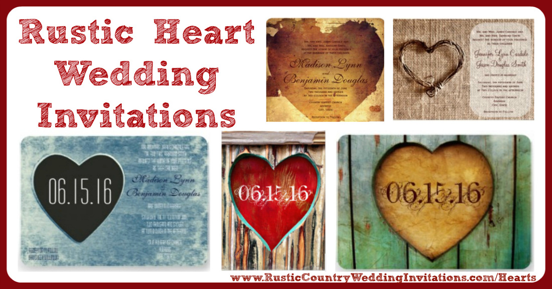 Rustic Heart Wedding Invitations