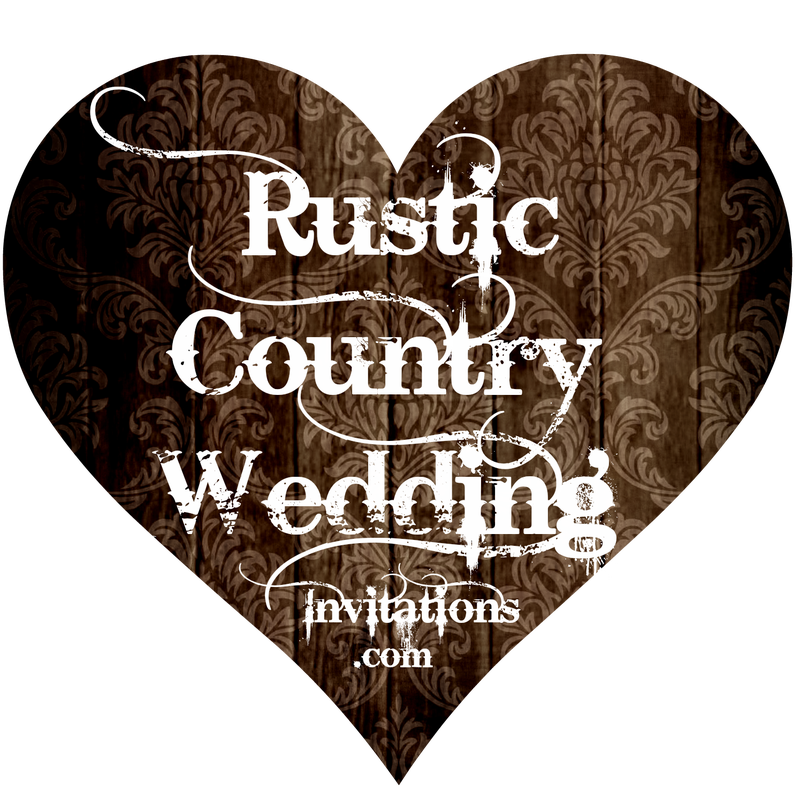 Rustic Country Wedding Invitations - Rustic Wedding Invitation Sets