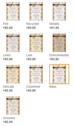 Difference In Invitation Paper Types On Zazzle Rustic Country Wedding Invitations