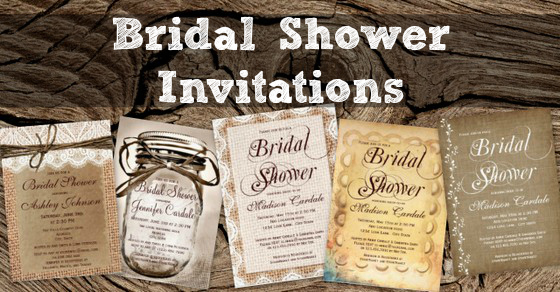 Rustic Country Bridal Shower Invitations