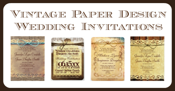 Vintage Paper Wedding Invitations